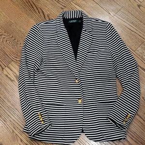 Ralph Lauren Ronisha Black & White Striped Blazer